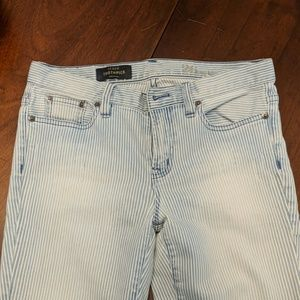 JCrew toothpick pinstripe ankle jeans